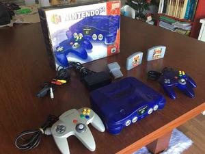 Nintendo 64 Completa En Caja, Color Blue Impecable