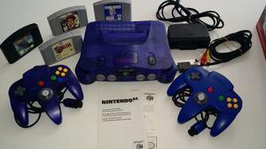 Nintendo 64 Violeta Transparente Manual Zelda! Juegos! Vicpa