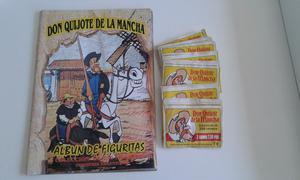 Vendo lote de 50 sobres de figuritas don quijote de la