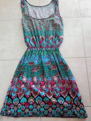 Vestido de fibrana estampado sin uso