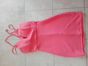 Vestido rosado de salir sin uso
