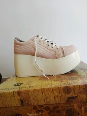 Zapatillas rosa plataformas número 36