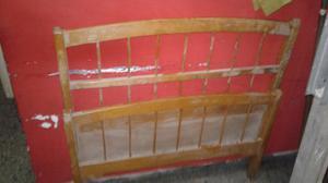 respaldo y piecera antiguo para cama