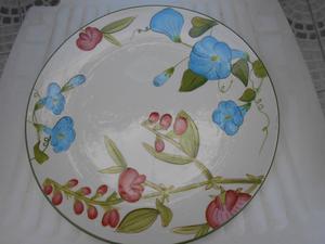 Plato grande de cerámica esmaltada en hermosos colores