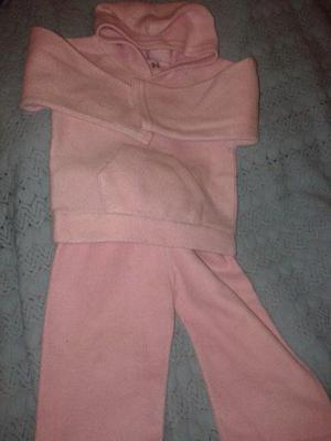 conjunto polar buzo capucha y pantalon talle 12meses