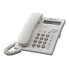 impecable teléfono Panasonic para mesa o pared visor de LCD