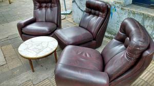 Antiguo sillón de 3 cuerpos individuales