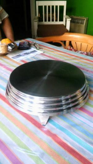 Base para tortas o masas de acero inoxidable