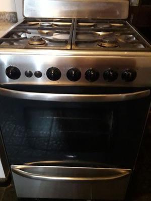Cocina Longvie Acero 60 Cm- Rejillas Hierro