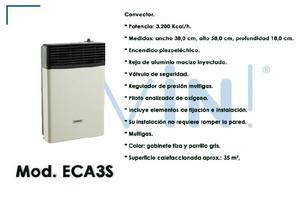 Estufa A Gas Longvie Eca3s / 3200 Kcal /excelente, En Gtia