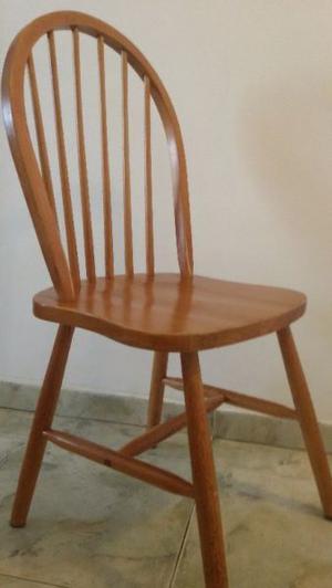 Juego 4 sillas windsor madera maciza de abedul nordico