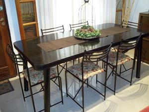 Mesa de 1.85 y 6 sillas reforzadas !! Envío gratis en