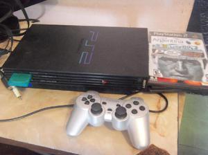 Playstation 2 FAT, 1 joystick nuevo, memoria, 10 juegos,