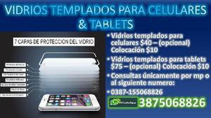 VIDRIOS TEMPLADOS DE CELULARES TABLETS