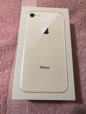 iPhone 8 de 64gb gold completo en caja