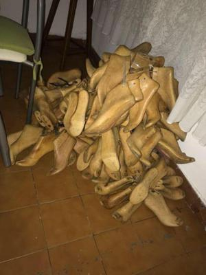 hormas madera maciza para zapato o sandalia