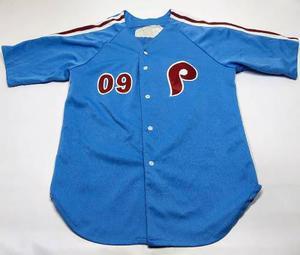 Casaca De Baseball De Los Phillies Talle L Celeste Mlb