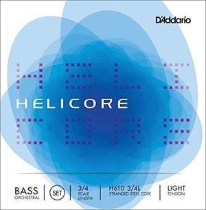 Cuerdas Contrabajo D'addario Helicore 3/4 Light Tensión