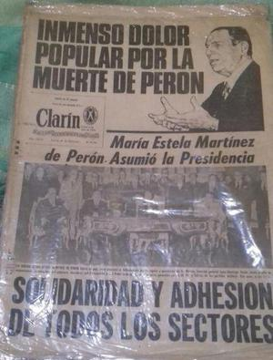 DIARIOS CLARIN: LA MUERTE DE PERON.