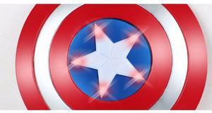 Escudo Capitan America Grande 32 Cm Diám.c/luz Y Sonido