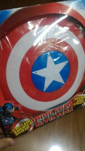 Escudo Capitán América Con Luz Y Sonido!! Envío Todo El