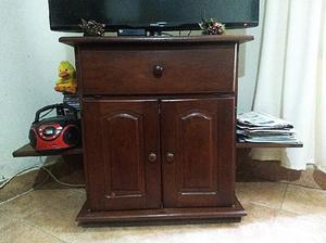 Mueble Para Tv Y Audio De Algarrobo Macizo