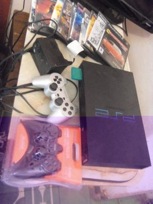PLAY 2, PS2, con 1 joystick nuevo, memoria y mas de 10