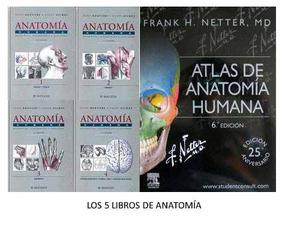Rouviere + Netter - Promoción Los 5 Libros De Anatomía
