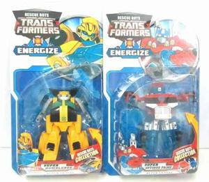 Transformers Rescue Bots Energize Optimus Prime O Bumblebee