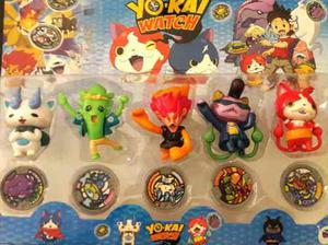 Yokai Watch Play Set X 5 Pvc C/medallas Precio X Cada Set