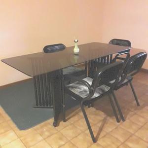 mesa y 6 sillas para living