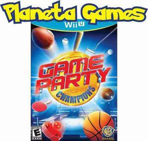 Game Party Champions Nintendo Wii U Nuevos Caja Sellada