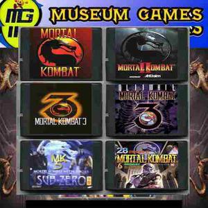 Mortal Kombat 1,2,3,4,5,6 Cart Sega Precio X C/u Local