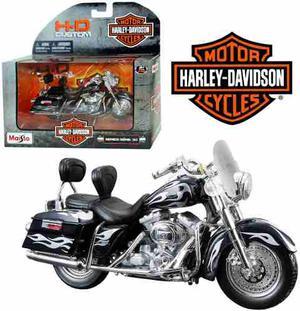 Moto Harley Davidson  Custom Maisto Colección 1:18