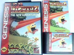 Pac Man 2 The New Adventures Sega Genesis Original Completo