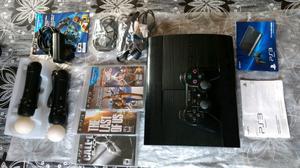 Playstation3 Super Slim 250Gb + Joystick + Move + Juegos