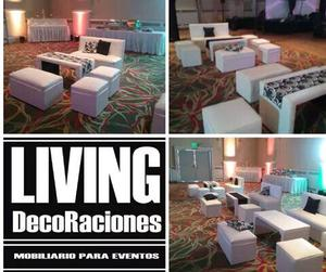 Alquiler de livings y mini livings para eventos en Córdobas