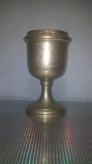 Antigua Vasija De Metal Plata Toledo
