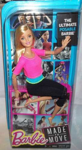 Barbie Made To Move Movimientos Ultraflexibles Yoga Rubia