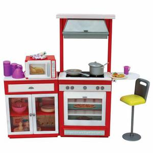 Combo Barbie Muñeca + Cocina Brittany + Accesorios