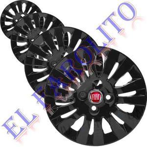 Juego X 4 Taza Palio Siena Negra 14 Con Logo Fiat Ti4478n