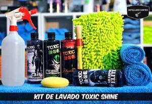 Kit De Lavado Auto Super Completo Toxic Shine