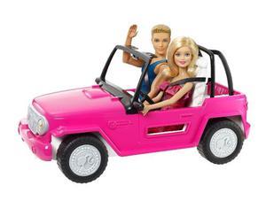 Muñeca Barbie Y Ken Jeep Original Mattel Nuevo