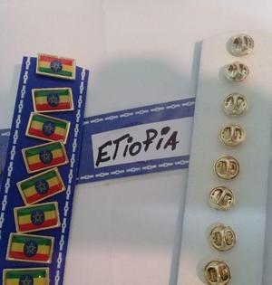 PINS BANDERA ETIOPIA DE 2 CMS