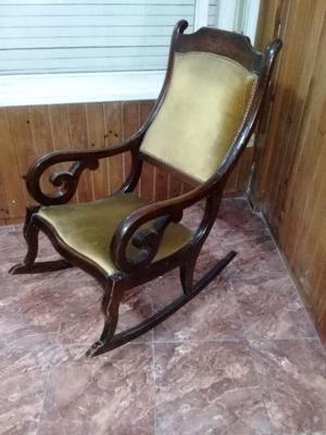 antigua silla mecedora estilo luis xv
