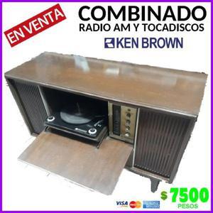 combinado ken brown con tocadiscos y radio am