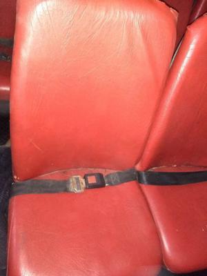 Butacas Combi Simples Con Cinturon de Seguridad