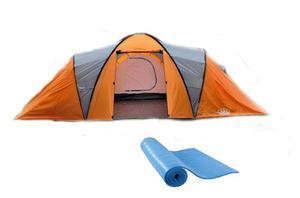 Carpa Familiar 8 - 9 Personas 4 Ambientes Camping + Base