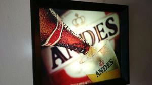 Cartel Andes impecable estado con foco incluido, listo para