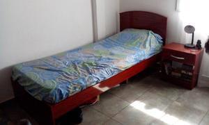 Cama 1 Plaza + Mesita De Luz Exc Estado